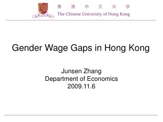 Gender Wage Gaps in Hong Kong