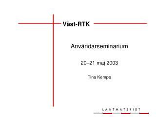 Väst-RTK