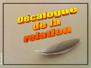 D�calogue  de la relation