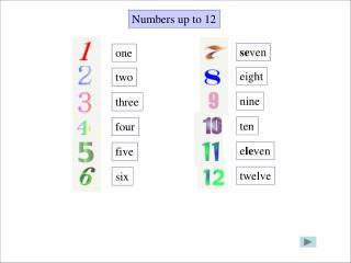 Numbers up to 12