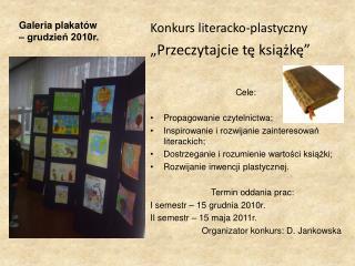 Galeria plakatów  – grudzień 2010r.
