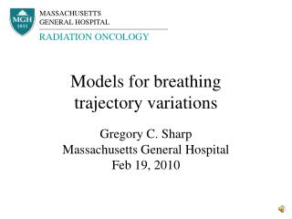 Models for breathing trajectory variations