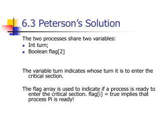 6.3 Peterson s Solution