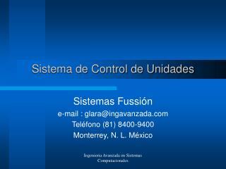 Sistema de Control de Unidades