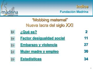 índice Fundación Madrina