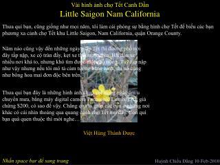 Little Saigon Nam California