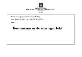Kommunenes moderniseringsarbeid