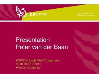 Presentation  Peter van der Baan