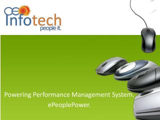Powering Performance Management System. ePeoplePower.