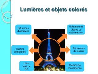 Lumi res et objets color s