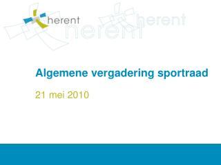Algemene vergadering sportraad