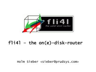 fli4l – the on(e)-disk-router