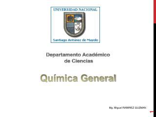 Departamento Acad�mico  de Ciencias