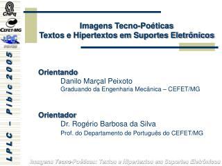 Imagens Tecno-Poéticas Textos e Hipertextos em Suportes Eletrônicos