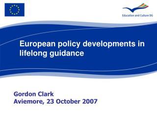 Gordon Clark Aviemore, 23 October 2007