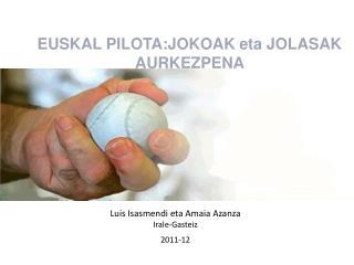 Luis Isasmendi eta Amaia Azanza Irale-Gasteiz  2011-12