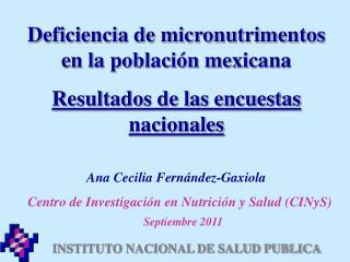 INSTITUTO NACIONAL DE SALUD PUBLICA