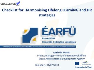 Checklist for  HArmonising  Lifelong  LEarniNG  and HR  strategiEs