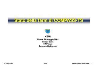 Stato della farm di COMPASS-TS