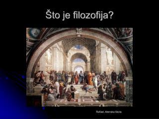 Što je filozofija?