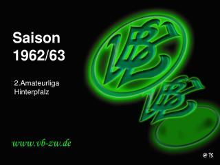 Saison 1962/63