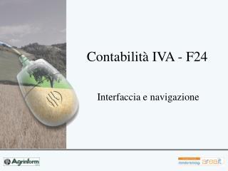 Contabilit� IVA - F24