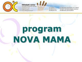 program NOVA MAMA