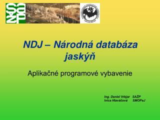 NDJ – Národná databáza  jaskýň