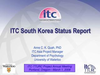 ITC South Korea Status Report