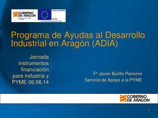 Programa de Ayudas al Desarrollo Industrial en Aragón (ADIA)