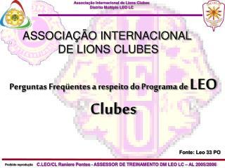ASSOCIAÇÃO INTERNACIONAL  DE LIONS CLUBES