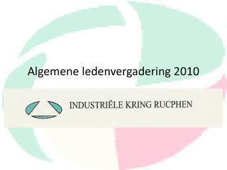 Algemene ledenvergadering 2010