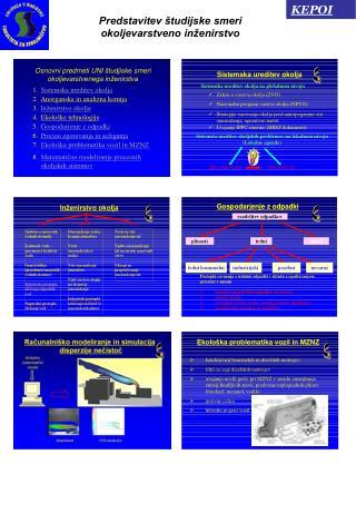 Predstavitev študijske smeri okoljevarstveno inženirstvo