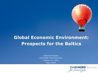 Global Economic Environment:  Prospects for the Baltics