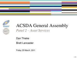 ACSDA General Assembly
