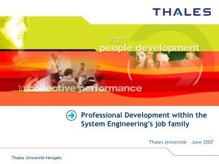 Professional Development within the System Engineering's job family