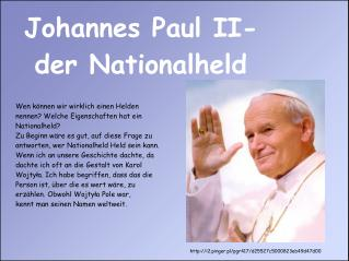 Johannes Paul II- der Nationalheld