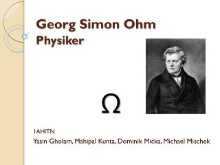 Georg Simon Ohm Physiker