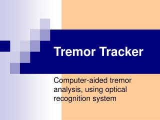 Tremor Tracker