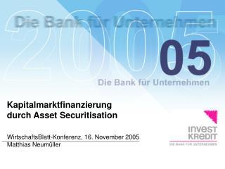 WirtschaftsBlatt-Konferenz, 16. November 2005 Matthias Neumüller