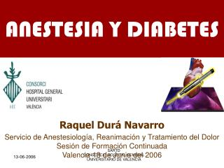 ANESTESIA Y DIABETES