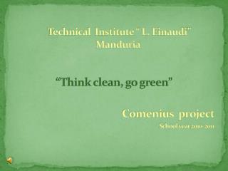 """Technical  Institute """" L.  Einaudi """" Manduria"""