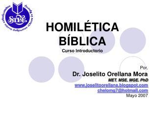 HOMILÉTICA BÍBLICA Curso Introductorio