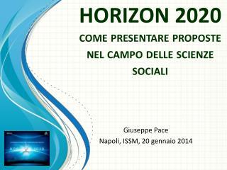 HORIZON 2020 come presentare proposte nel campo delle scienze sociali