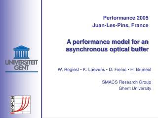 A performance model for an asynchronous optical buffer