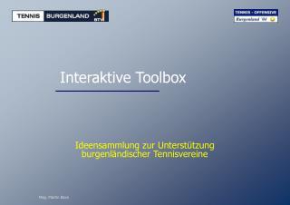Interaktive Toolbox