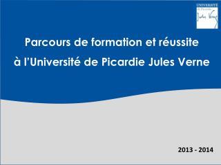 Parcours de formation et réussite  à l'Université de Picardie Jules Verne