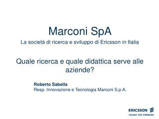 Marconi SpA