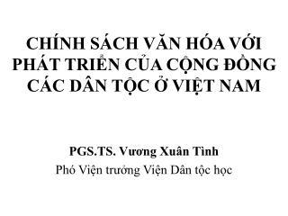 CH NH S CH VAN H A VI         PH T TRIN CA CNG  NG          C C D N TC  VIT NAM