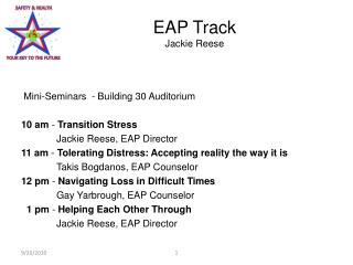EAP Track Jackie Reese
